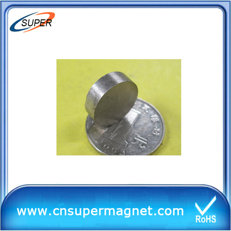 High Quality D12*3mm SmCo Permanent Magnet