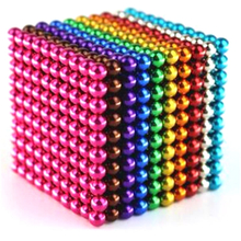 High quality large ten color 5mm 1000 pieces colorful magnet balls magnetic toys buckyball