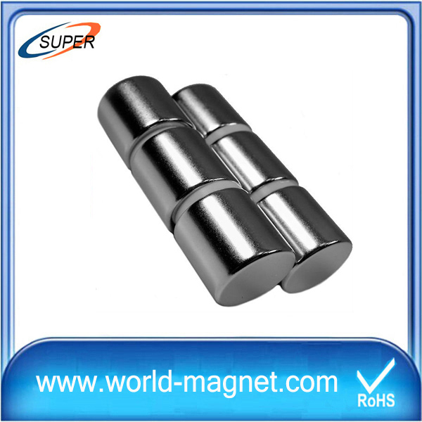 Strong N38 Sintered Neodymium Cylinder Magnets