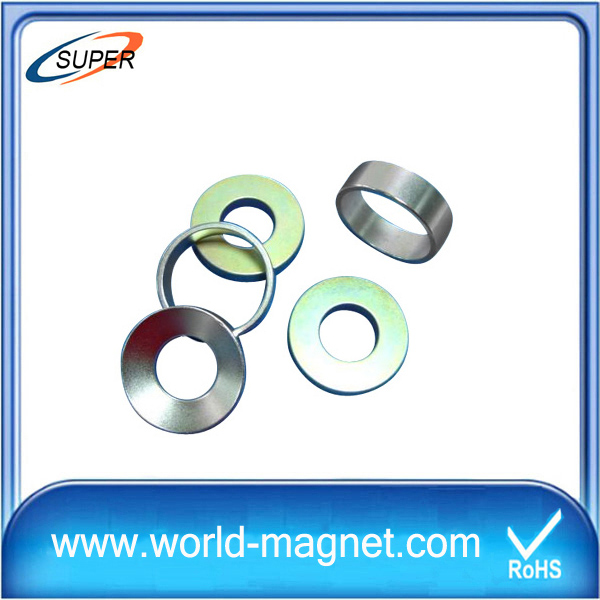 Nickel Coated N52 Neodymium Ring Magnet for Meters